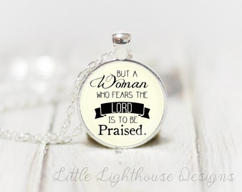 Medium Proverbs Necklace Proverbs Pendant Christian Jewelry Inspirational Gift Christian Gift Long Pendant Proverbs Pendant Necklace