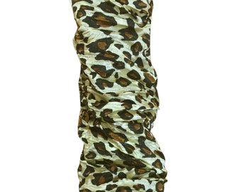 4 Feet Brown Leopard Cord and Chain Cover  CC-28-LPBR