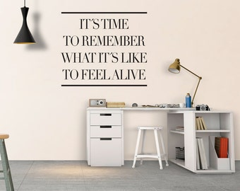Feel Alive - Decal - Inspirational - Quotes - Typography Stickers - Inspirational Stickers - Motivational Decals - Typography - SKU:RFA