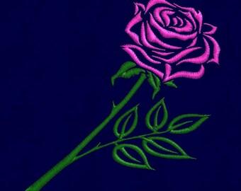 embroidery design Rose Flower 4x4 pes hus jef dst vip vp3 exp in zip