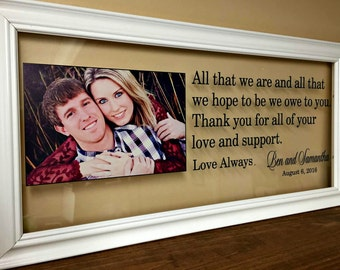 Wedding Gifts for Parents, Mother of the Bride Gift, Gifts for Parents,  Father of the Bride Gift, Mother of the Groom Gift, Gift for Inlaws