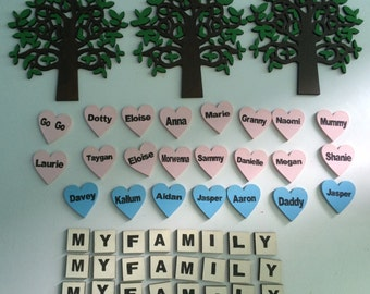 4mm laser cut mdf kit to make your own family trees.