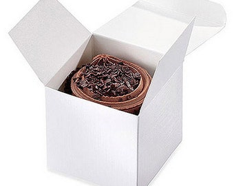 Pretty Wedding Favour Cupcake Boxes - Pack of 8