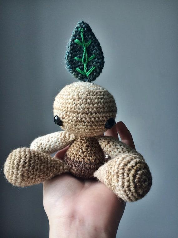 Amigurumi Mandrake : Mandragora // Mandrake amigurumi crochet toy doll ooak