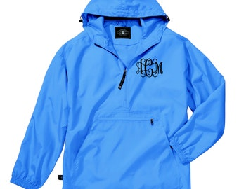 Monogram rain jacket | Etsy