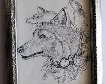 Companion Original Framed Illustration