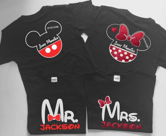 Disney Bride And Groom Shirts Disney Just Married Shirts