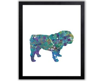 British Bulldog Art, Bulldog Painting, Dog Art, Limited Edition Art Print