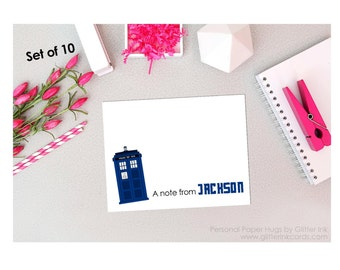 Set of 10 Blank Note Cards -Doctor Note Cards - Stationery Cards - Thank You Cards