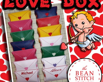 Embroidery Machine Download Design File - Envelope Love StitchBox - FOUR Sizes INCLUDED!!!
