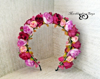 FLower headband Words of love