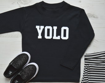 Yolo Toddler Graphic Tees | Cool T Shirts | Hipster Kids Clothes | Slogan TShirt |  YOLO