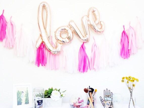 LOVE Script Letter Balloons