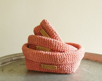 Basket set, crochet