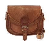 Handmade Women Leather Cross Body Shoulder Bag, Vintage Retro Style Saddle Handbag
