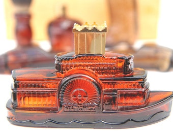AVON WILD COUNTRY collection steam boat bottle