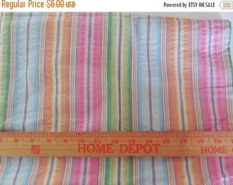 On sale Destash- Lightweight Pastel Stripe Fabric