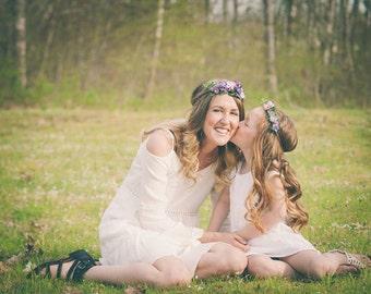 DIY Flower Crown Kit- Photo Prop- Purple Bridesmaid Flower Crown- Purple Wedding- Purple Wedding Accessory