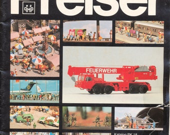 ca. 1982 Trains Preiser Katalog PK 18 Miniaturfiguren HO Model Trains Scenic Catalog