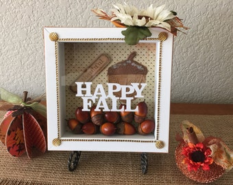 Happy Fall Shadow Box