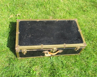 Vintage Black Metal Suitcase
