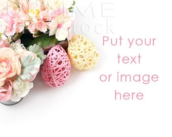 Styled Stock Photography / Spring Background / Stock Image / Flowers / Floral / Pastel Flowers / Easter Background / StockStyle-662