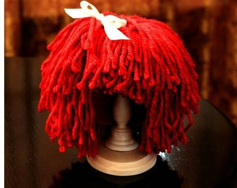 For All Ages, Raggedy Ann Doll Hair Wig Costume Hat!