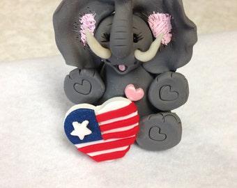 July Elephant ornament