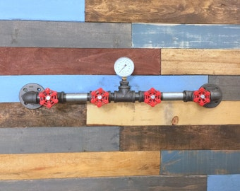 Industrial Coat Rack, Industrial Furniture, Pipe Decor, Industrial Decor, Hat Rack, Coat Hanger, Steampunk Decor, Man Cave, Coat Rack