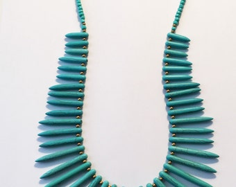 Turquoise Statement Necklace - Royal
