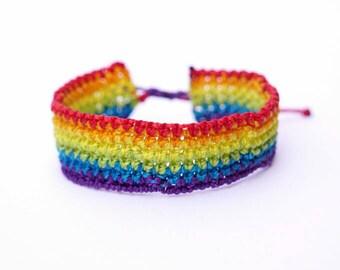Colorful Macramé Bracelet - Rainbow