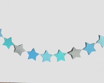 Star Garland / Bunting party decor cake kids decorations customised colours first birthday