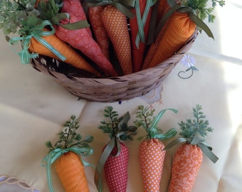 Fabric Easter Carrots  - Set of 4