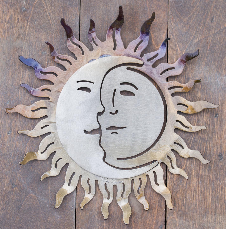 Wrought Iron Sun Wall Art 14 X 14 Wrought Iron Sun And Moon Sculpture Wall