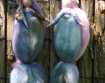 Mermaids, Merlin and Malin, mermaids, wool, Waldorf