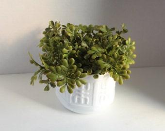 Greenery Planter,Milk Glass Flower Pot, Succulent Planter, Indoor Planter