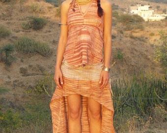 Khadi Skirt, Fairy skirt, Pocahontas-Skirt, long-short-skirt, laced Skirt, Festival Skirt, Mini Skirt, Hippie Skirt