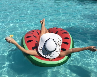 Wife Life White Floppy Sun Hat