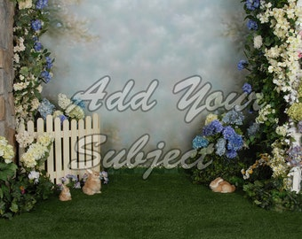 Easter Photo Background Digital Download Backdrop