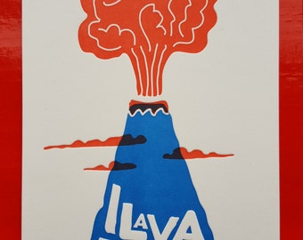 Letterpress love card 'I lava you'