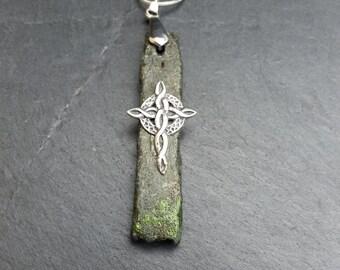 Celtic Cross on green slate ST. 0096