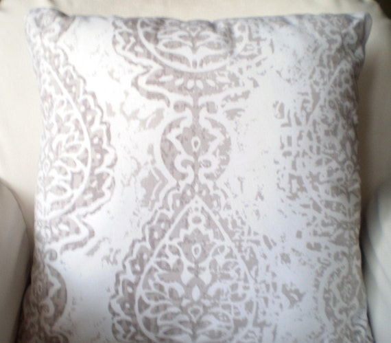 Taupe Ecru Decorative Throw Pillow Covers by PillowCushionCovers