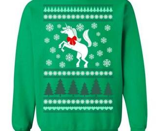 Unicorn Christmas Sweater Unicorn Sweater Ugly Christmas Sweater Tacky Christmas Sweater for Unicorn Lover Funny Unicorn Gift Unicorn #OS186