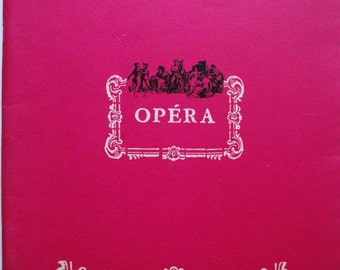 Vintage Opera booklet. French Opera. France. Advertisement. Collectible. Memorabilia. 1960s. Rare. Theater souvenir. Paris.