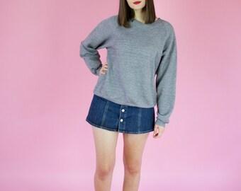 Vintage Heather Grey Sweatshirt / Made in USA / S/M/L
