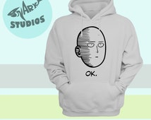 One Punch Man - Saitama OK Hoodie Pullover/Zip Up