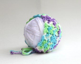 Crochet Baby Bonnet- Photography Prop