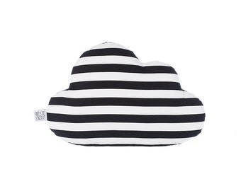 Cloud Pillow, Black And White Cloud Cushion, Kids Pillow, Decorative Pillow, Kids Room Decor, Baby Bedding, Monochrome.