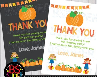 Pumpkin Patch Party Thank You Card