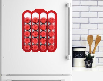 Red White Illy Espresso Coffee Pod Holder iperEspresso Capsules Holder For 20 Illy Pod Storage Magnetic Coffee Pod Rack, Coffee Lover Gift,